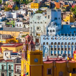 Downtown of Guanajuato from El Pipila monument (Mexico)